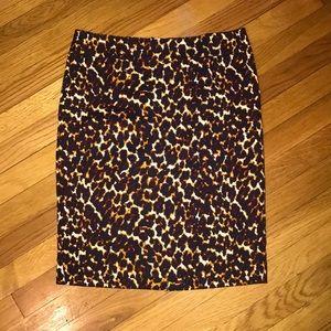 Merona Leopard Print Pencil Skirt EUC